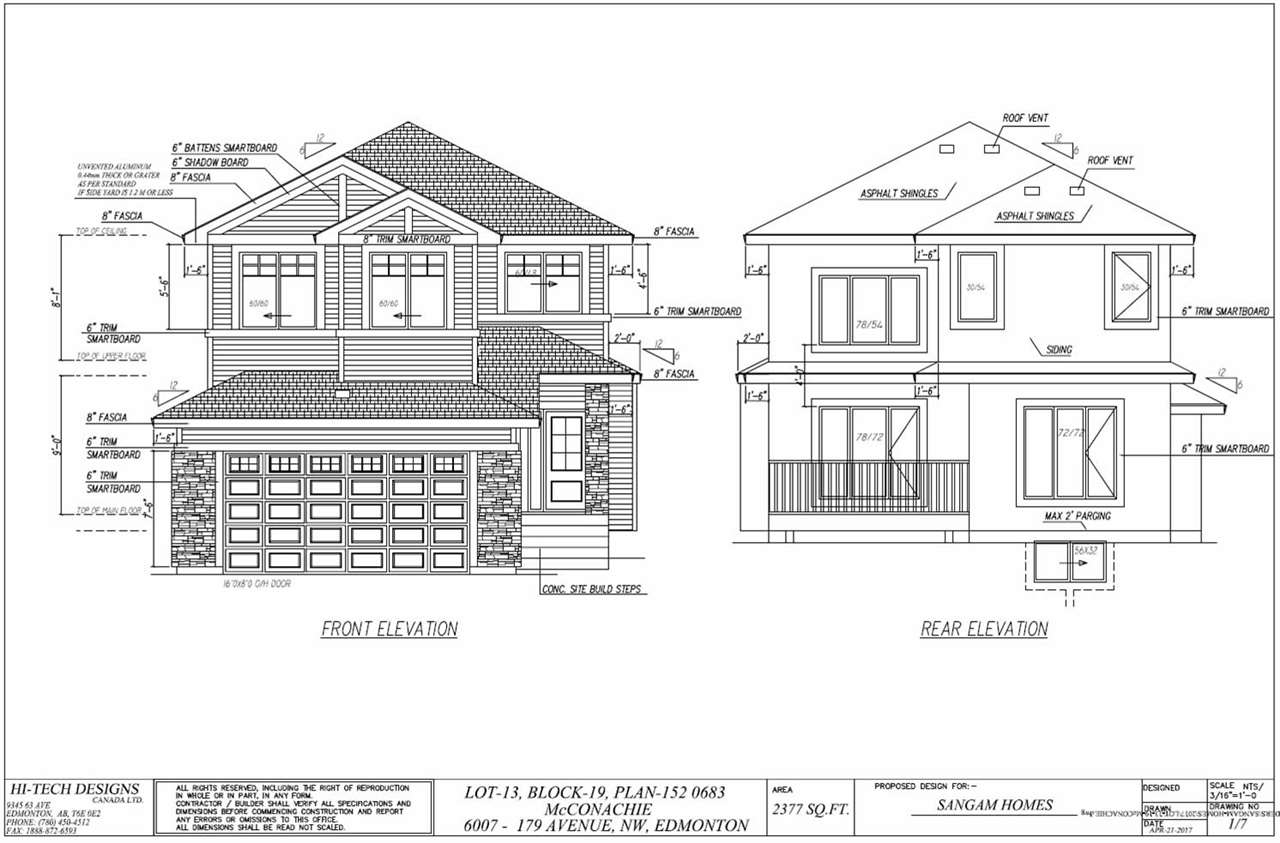 6007 179 Avenue NW, 3 bed, 2.1 bath, at $538,800