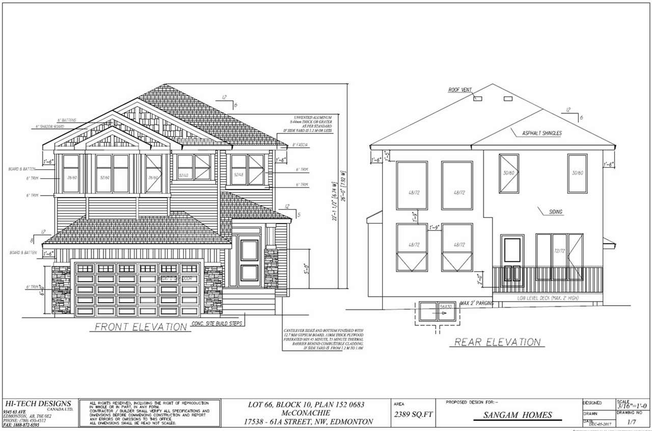 17538 61A Street NW, 4 bed, 3 bath, at $538,800